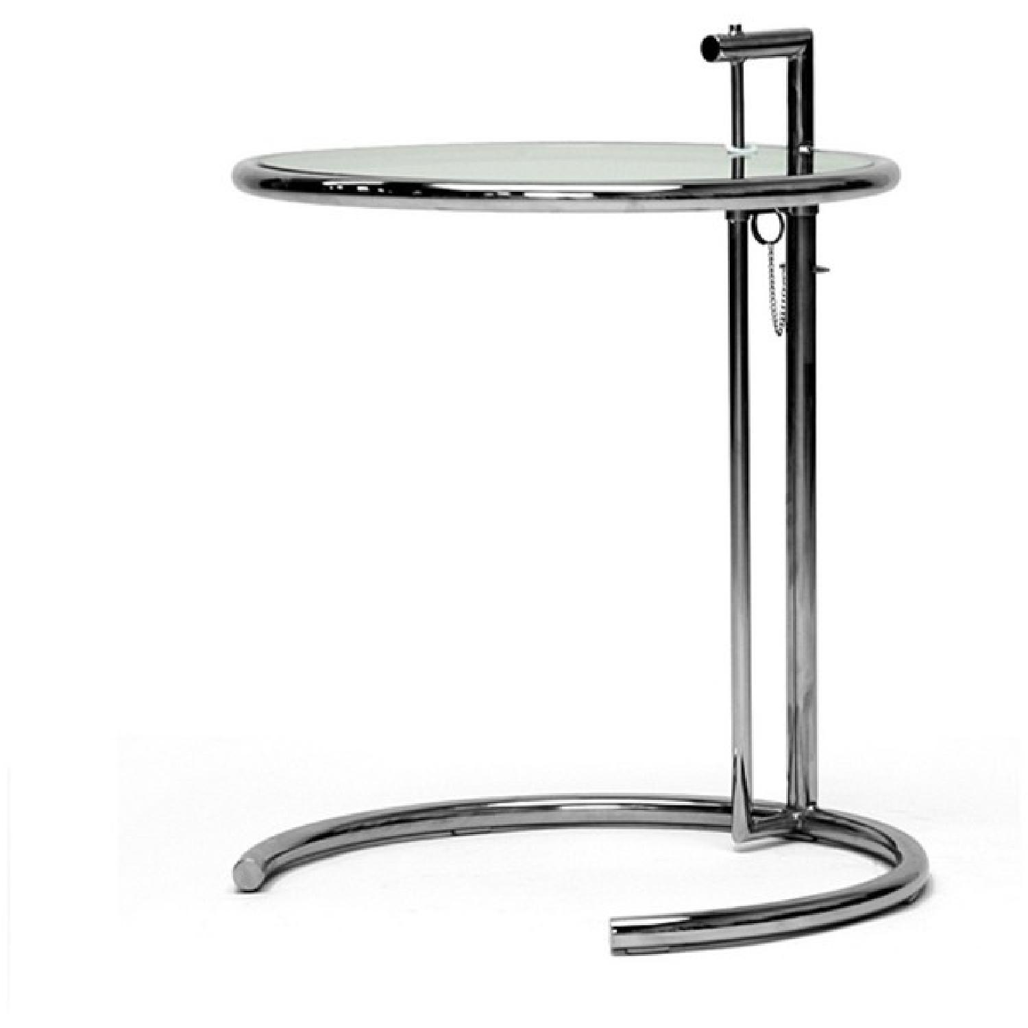 Eileen Gray Stainless Steel Accent Table - image-0