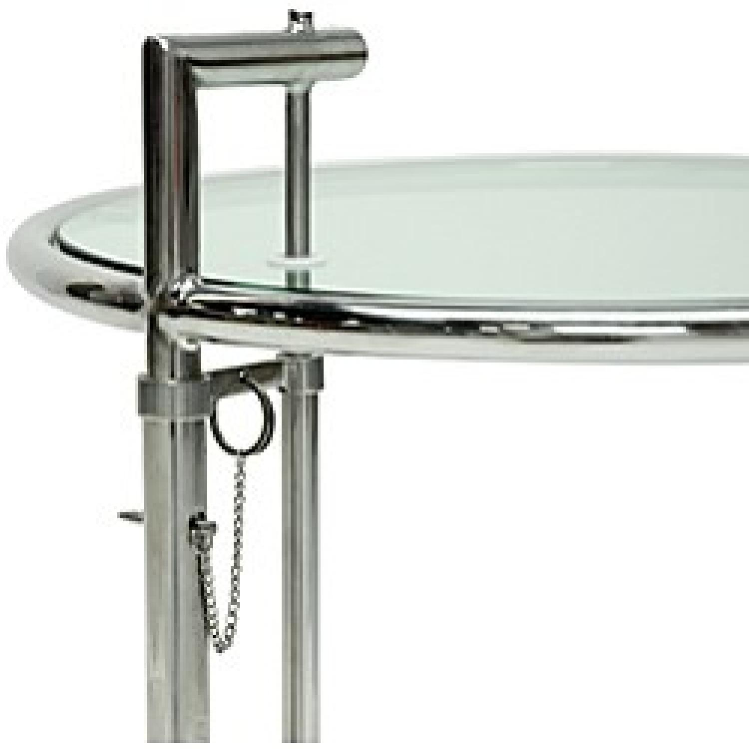 Eileen Gray Stainless Steel Accent Table - image-1