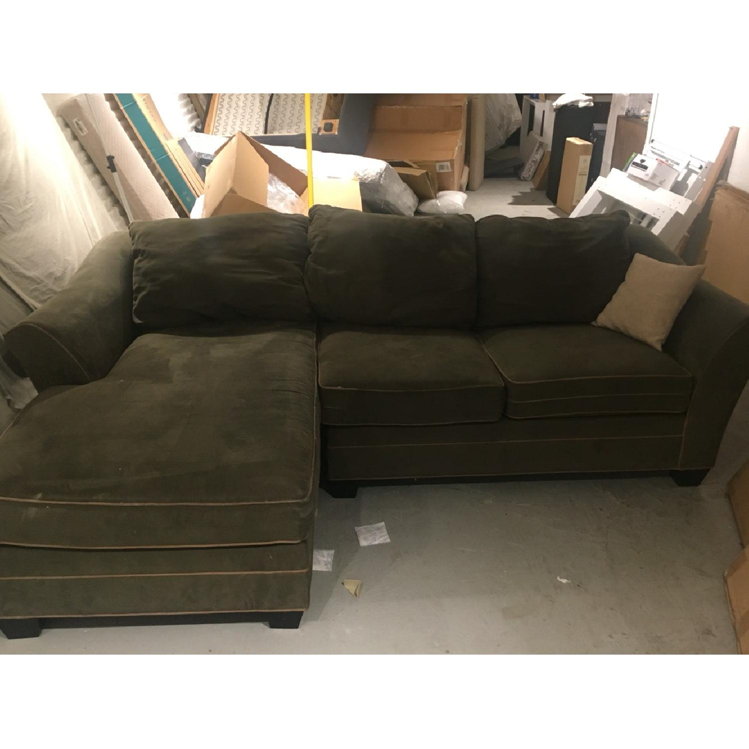 Green L Sectional Sofa - image-1