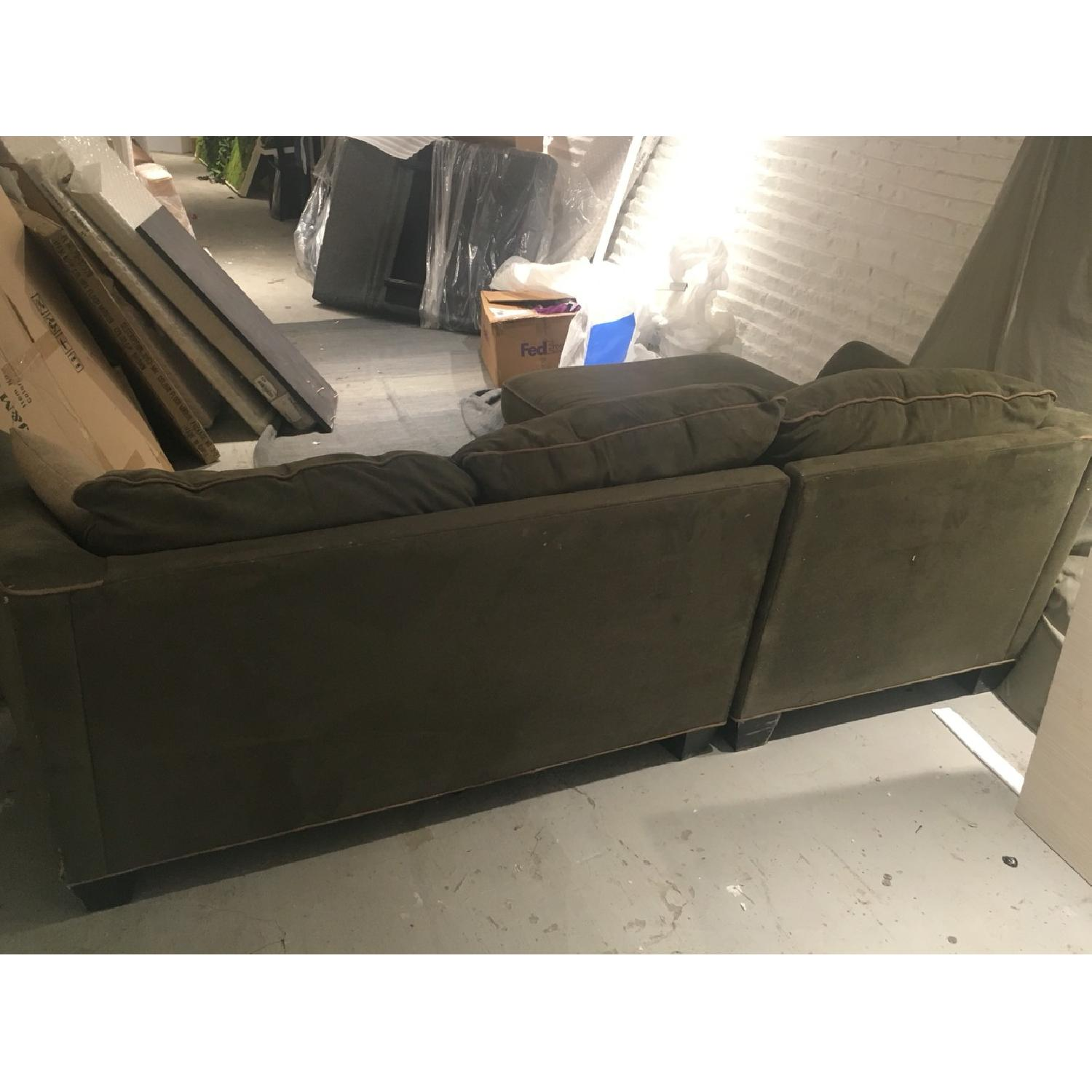 Green L Sectional Sofa - image-3