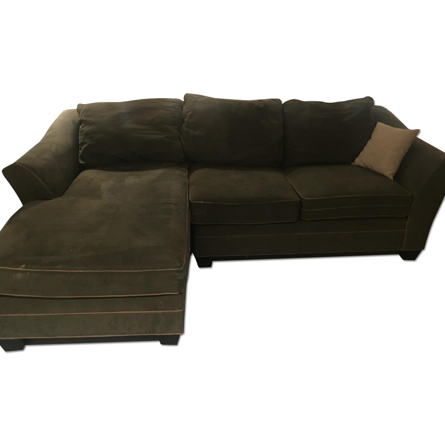 Green L Sectional Sofa - image-0