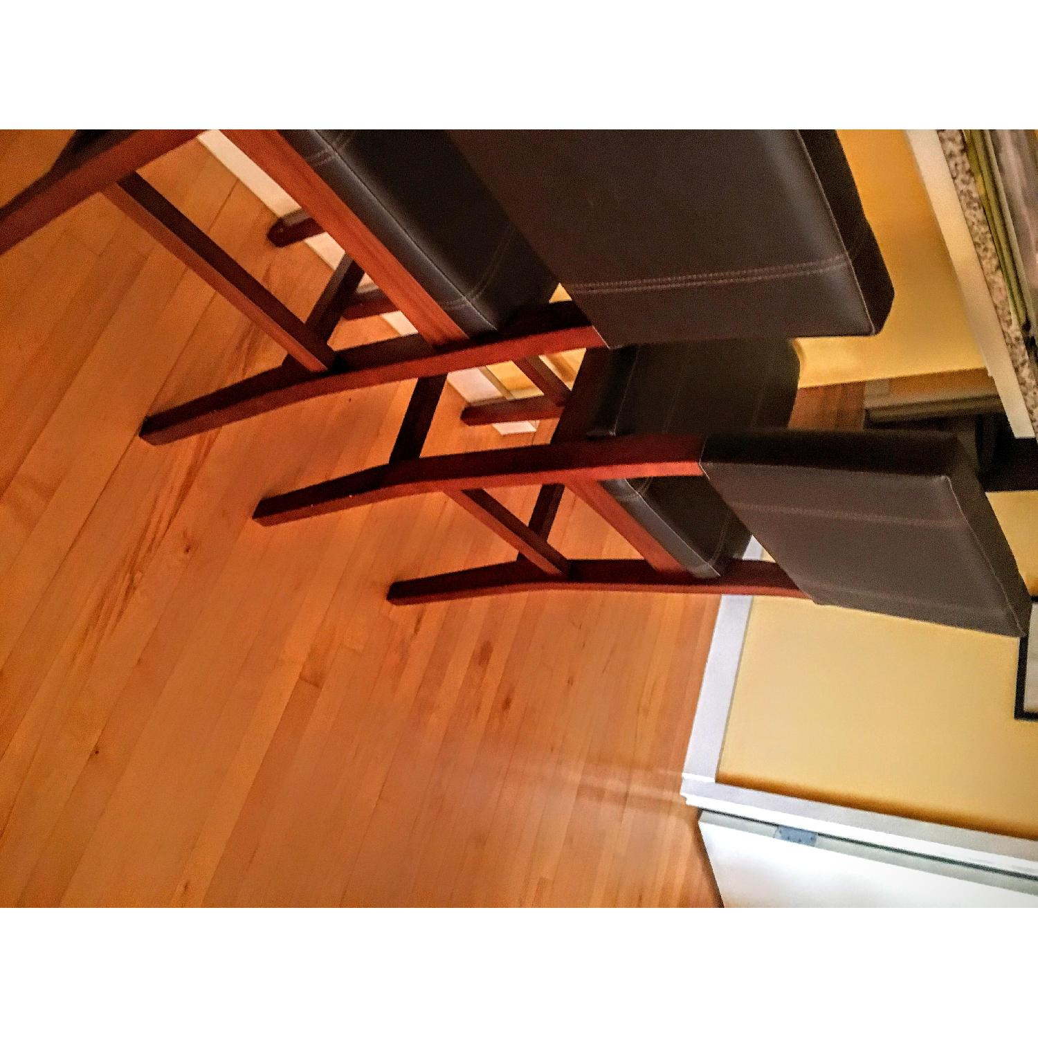 Leather High Bar Stools - image-2