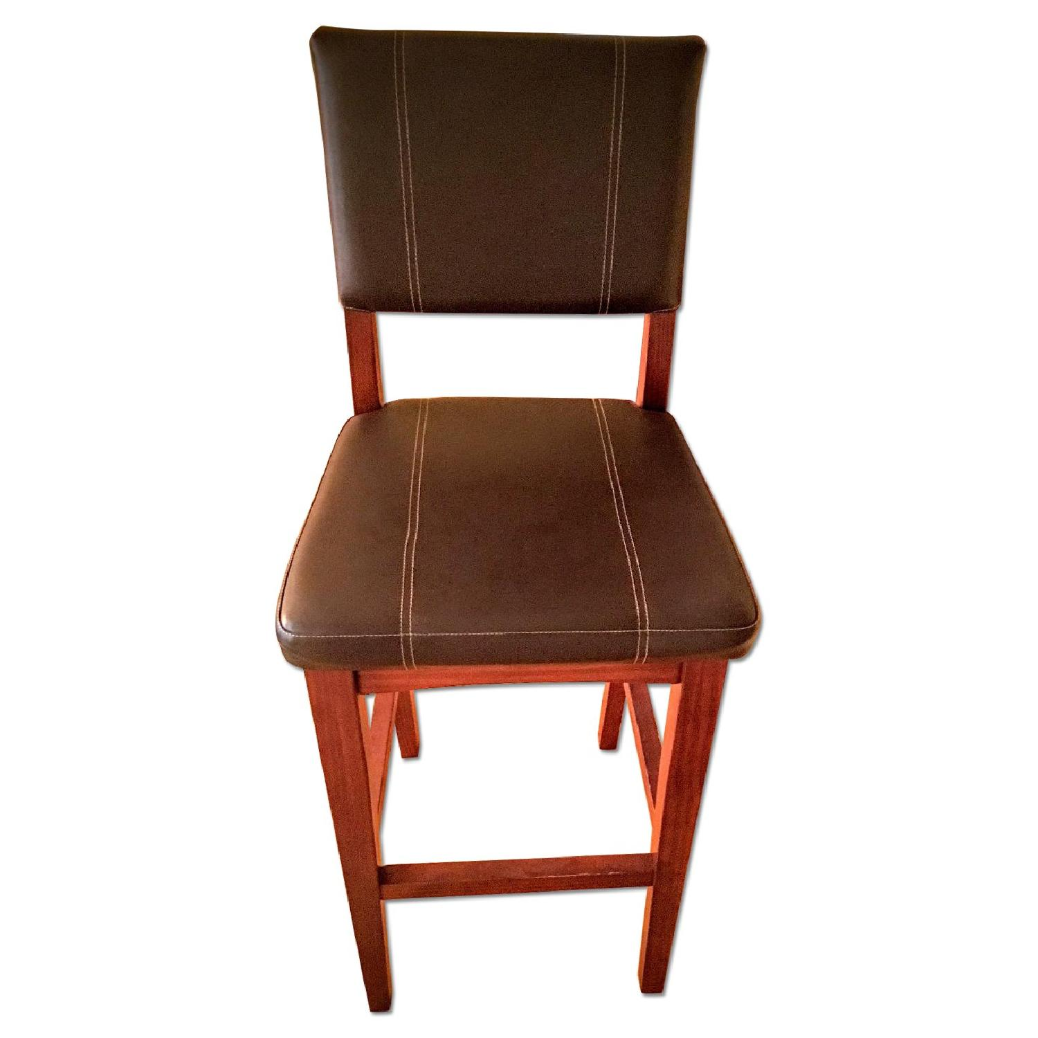 Leather High Bar Stools - image-0