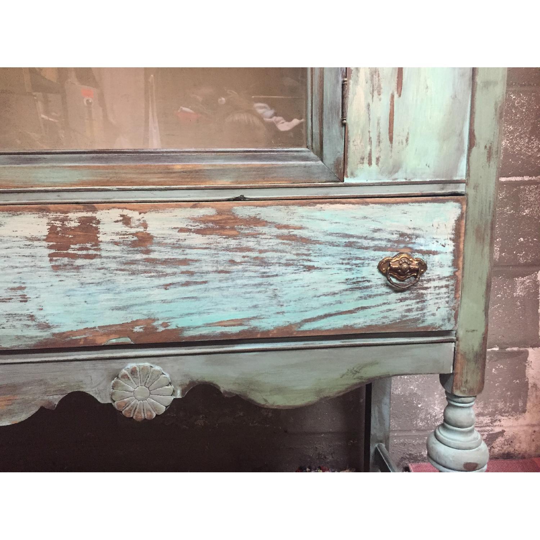 Shabby Chic Chippy Turquoise Buffet/China/Linen Storage - image-4