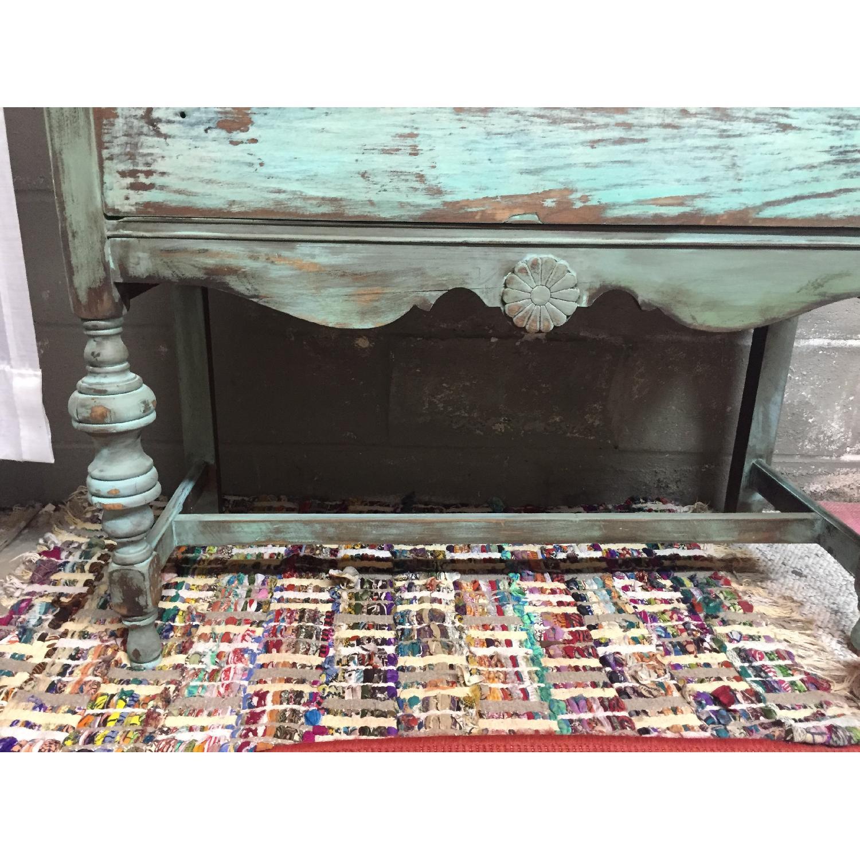 Shabby Chic Chippy Turquoise Buffet/China/Linen Storage - image-6