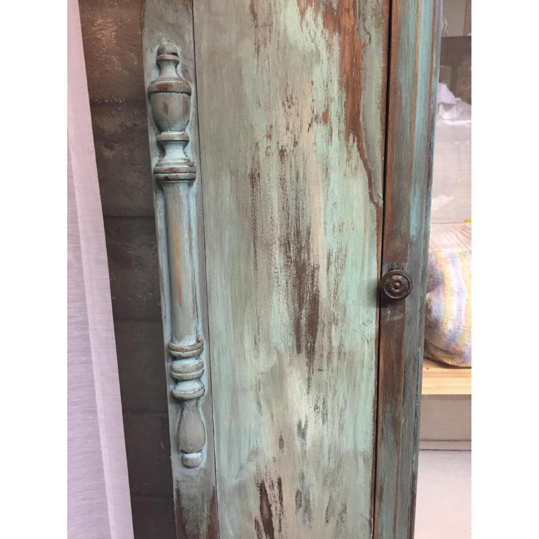 Shabby Chic Chippy Turquoise Buffet/China/Linen Storage - image-8