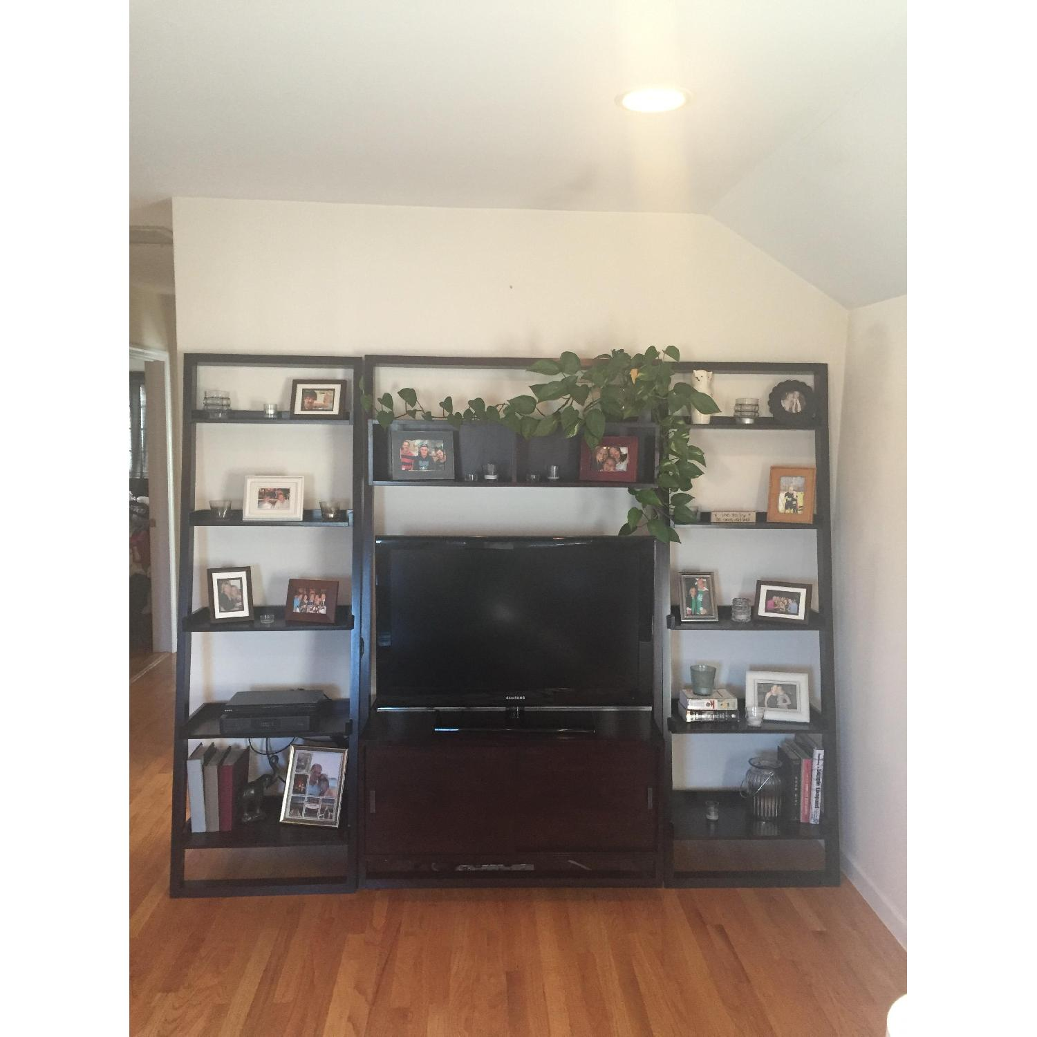 Crate & Barrel TV Stand w /Bookcases - image-1