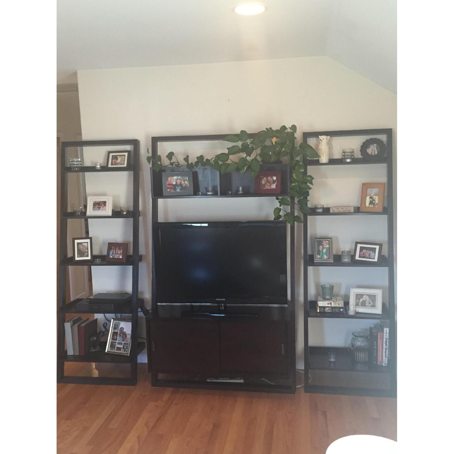 Crate & Barrel TV Stand w /Bookcases - image-2