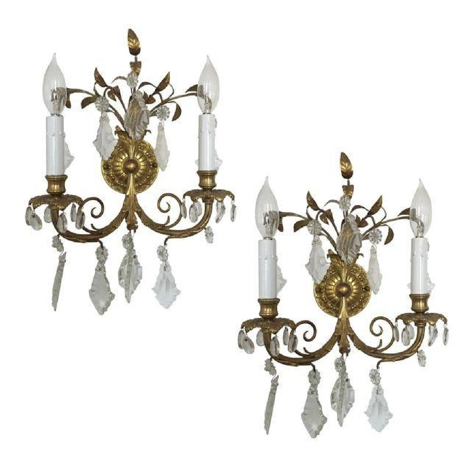 Antique French Wall Sconces - image-4