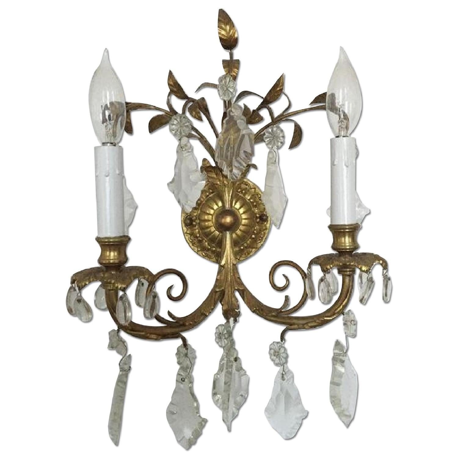 Antique French Wall Sconces - image-0
