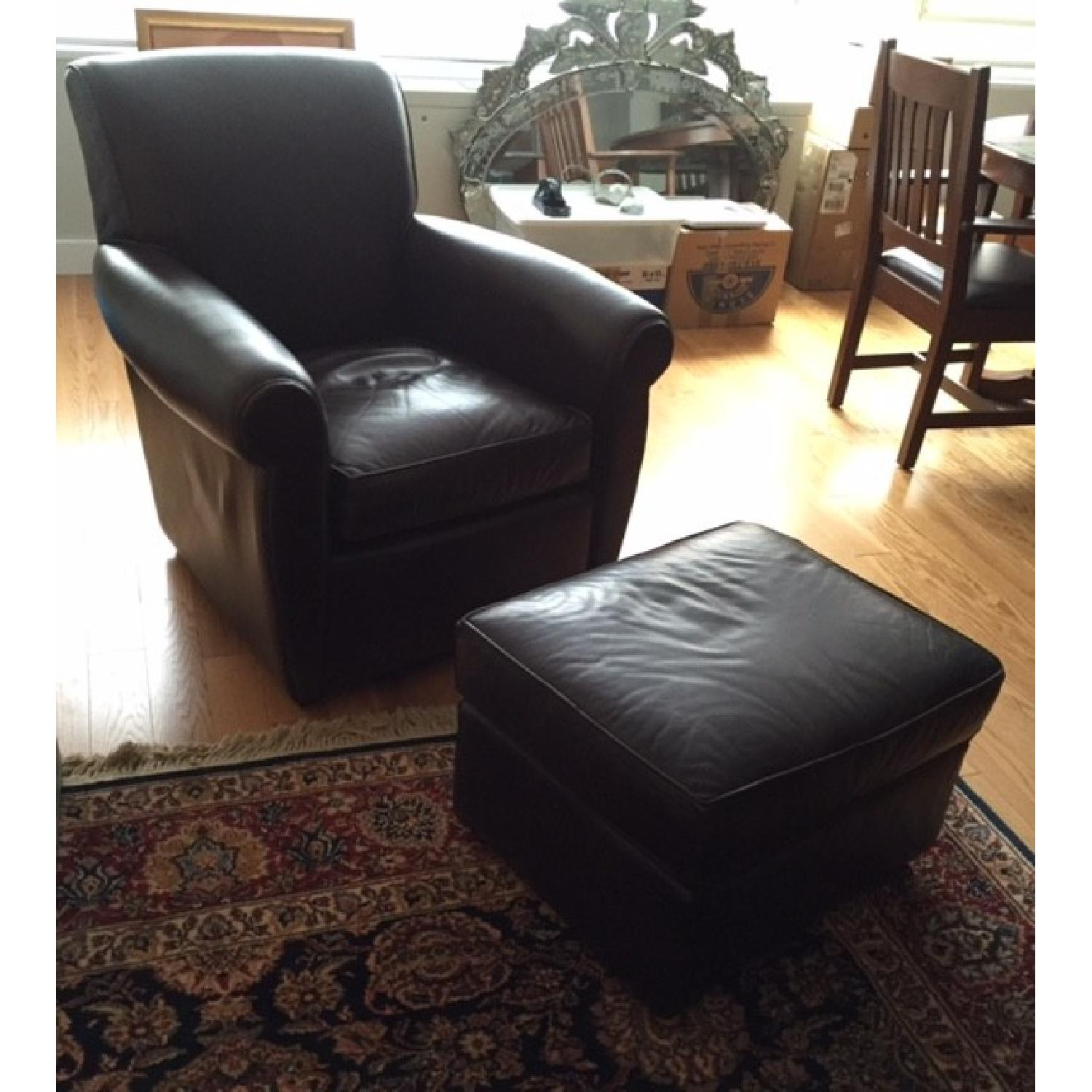 Mitchell Gold + Bob Williams Club Chair & Ottoman - image-1