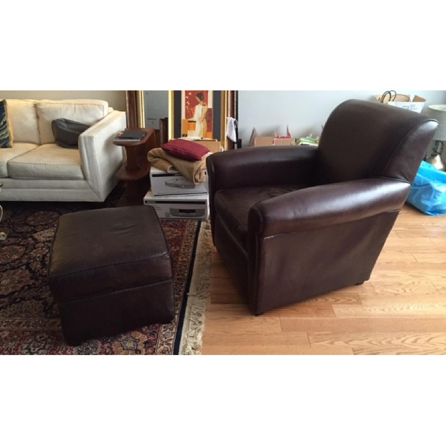 Mitchell Gold + Bob Williams Club Chair & Ottoman - image-2