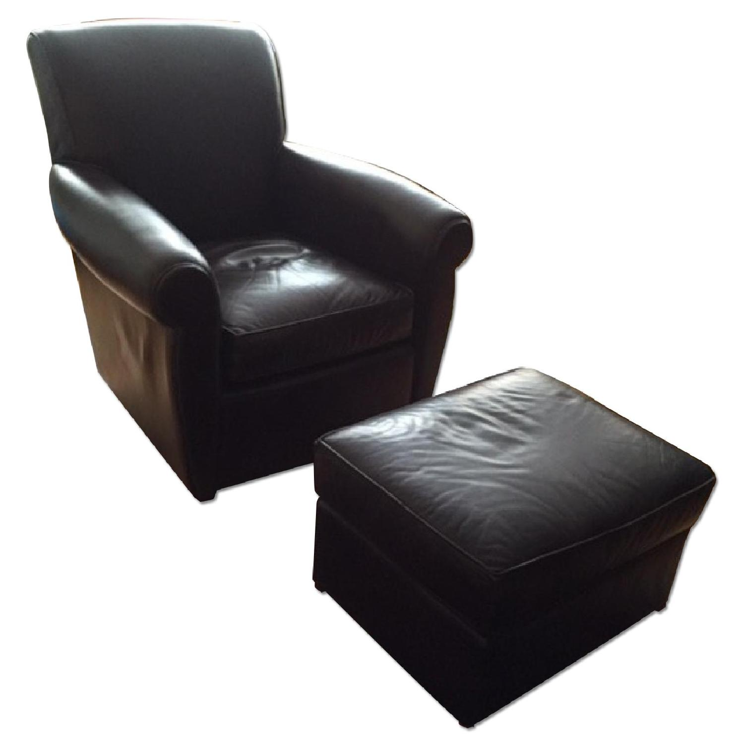 Mitchell Gold + Bob Williams Club Chair & Ottoman - image-0