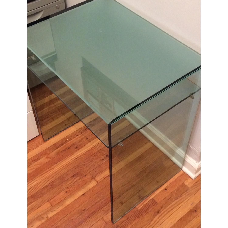 Custom Tonelli Italian Glass Console Table w/ Shelf - image-2