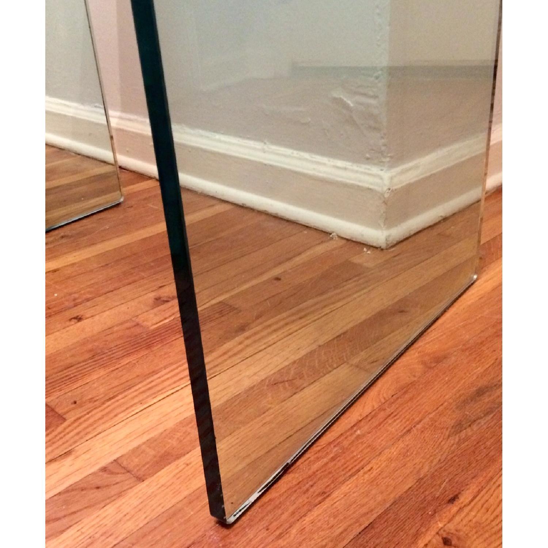 Custom Tonelli Italian Glass Console Table w/ Shelf - image-4