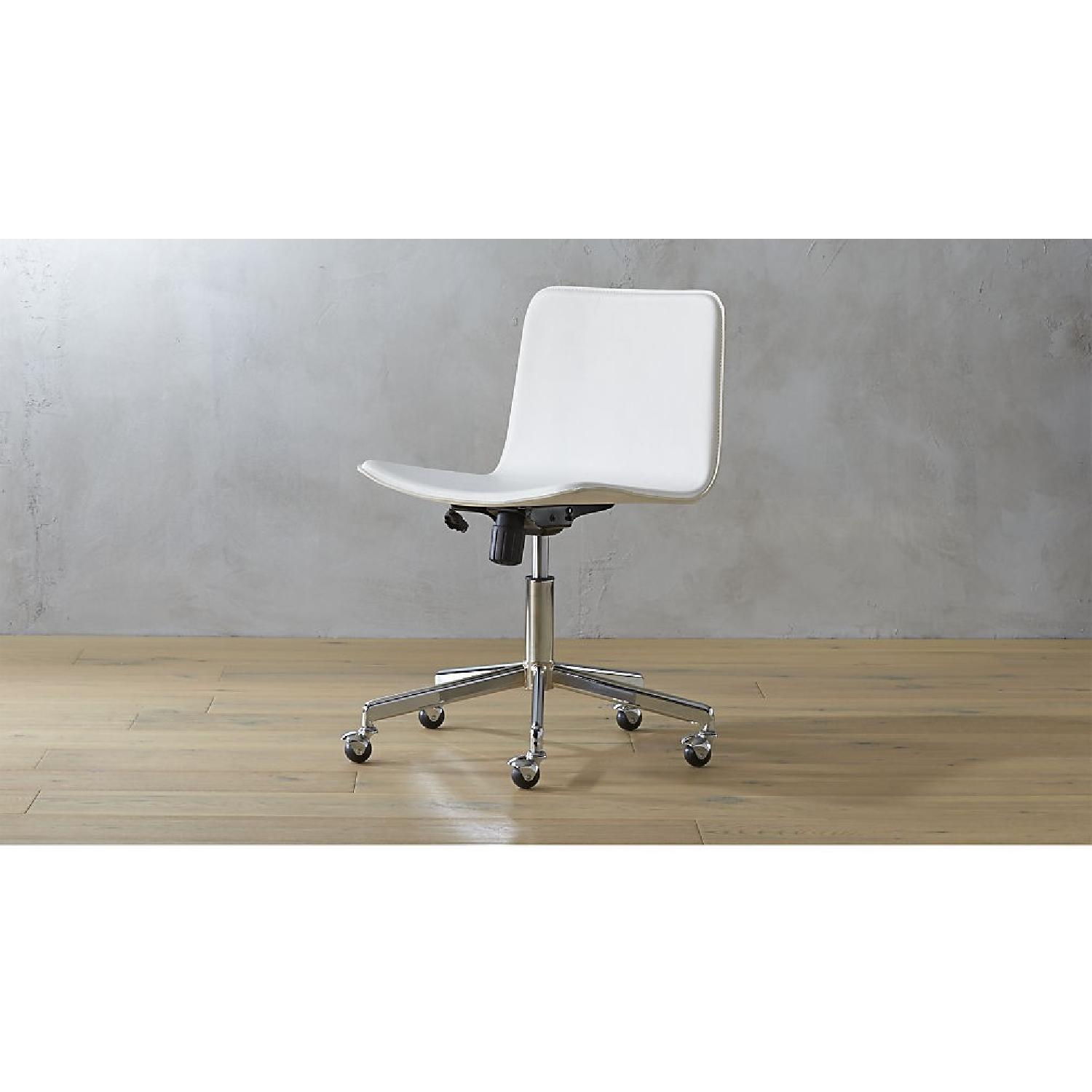 CB2 Form White Office Chair w/ Arm Rest - image-1