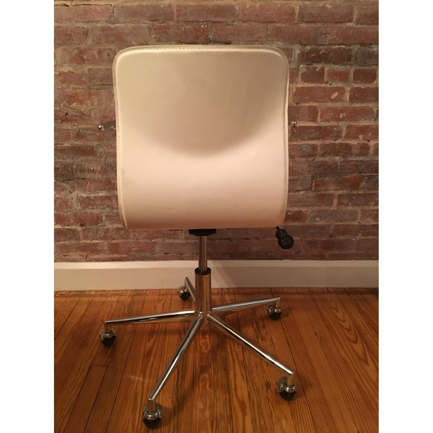 CB2 Form White Office Chair w/ Arm Rest - image-4