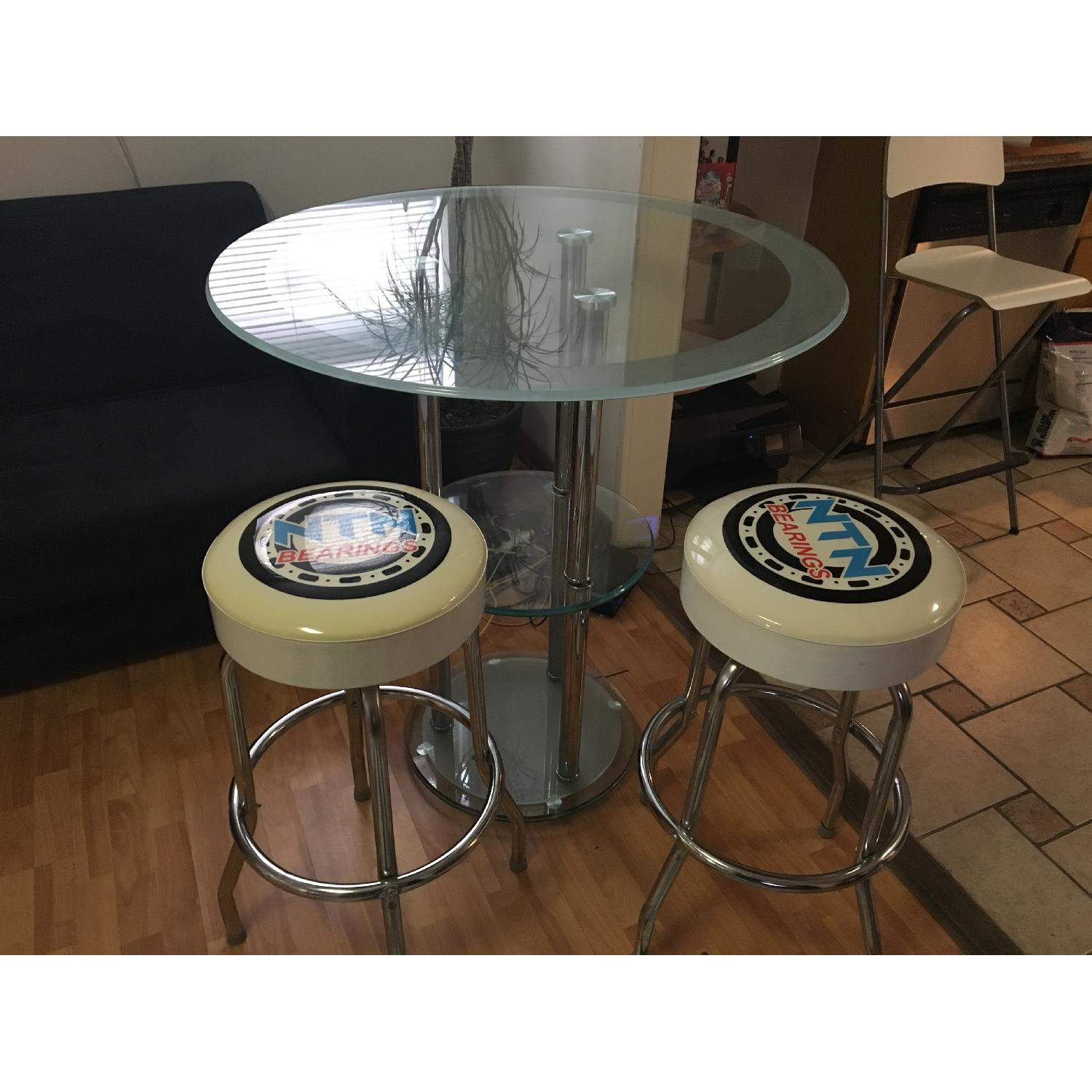 Bar Table w/ 2 Chairs - image-1