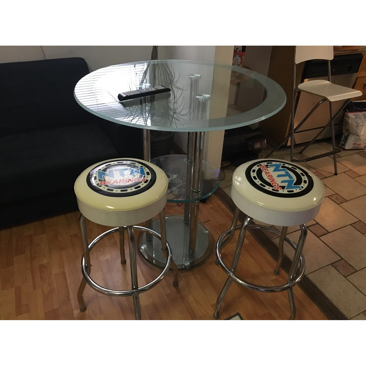 Bar Table w/ 2 Chairs - image-2