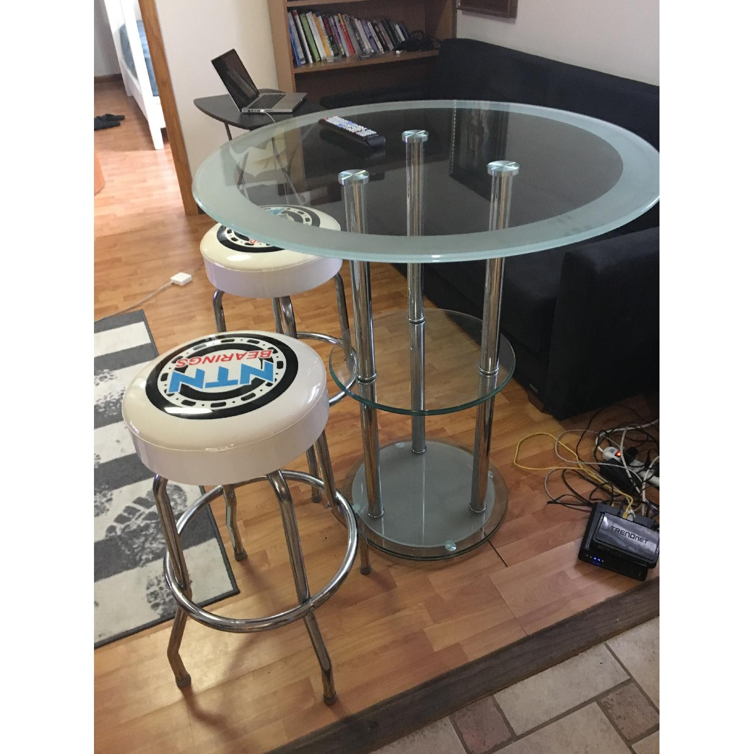 Bar Table w/ 2 Chairs - image-6