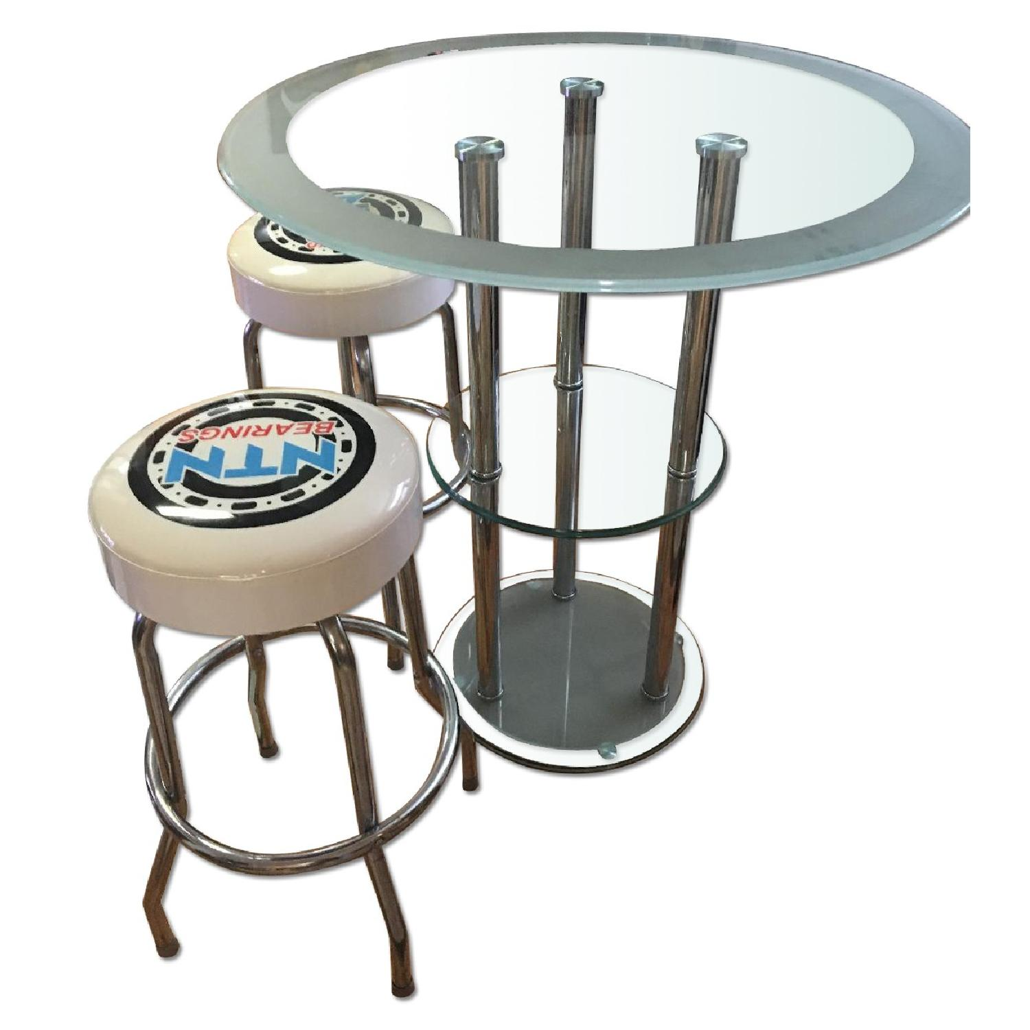 Bar Table w/ 2 Chairs - image-0