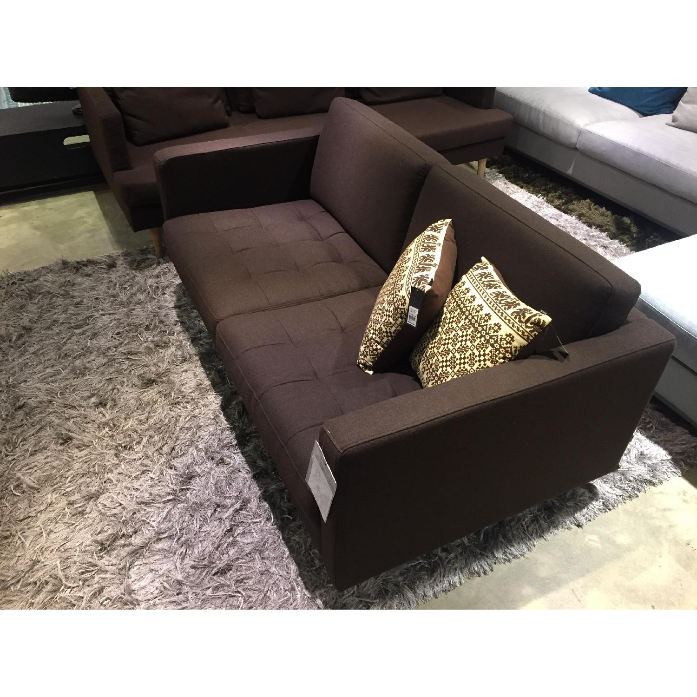 BoConcept Olympia Sofa in Chocolate w/ Felt/Brushed Steel Legs - image-3