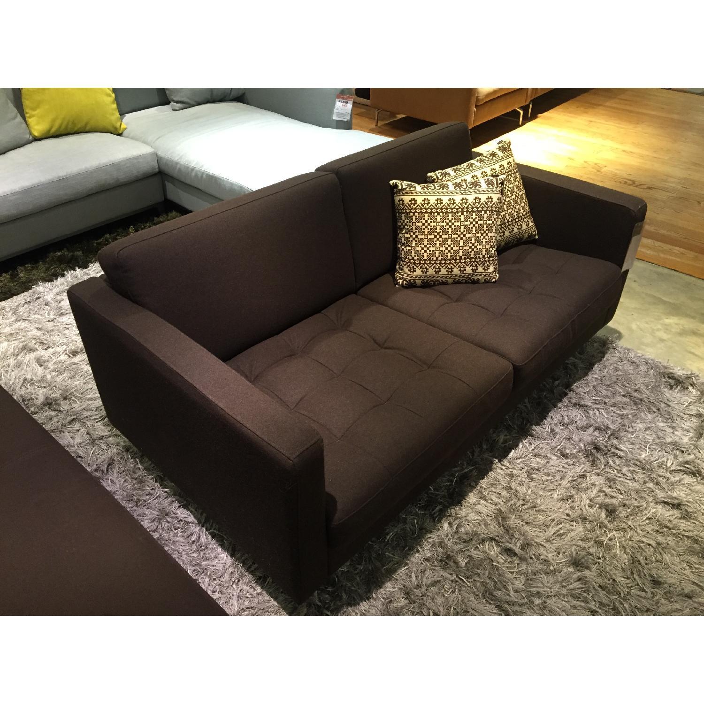 BoConcept Olympia Sofa in Chocolate w/ Felt/Brushed Steel Legs - image-4