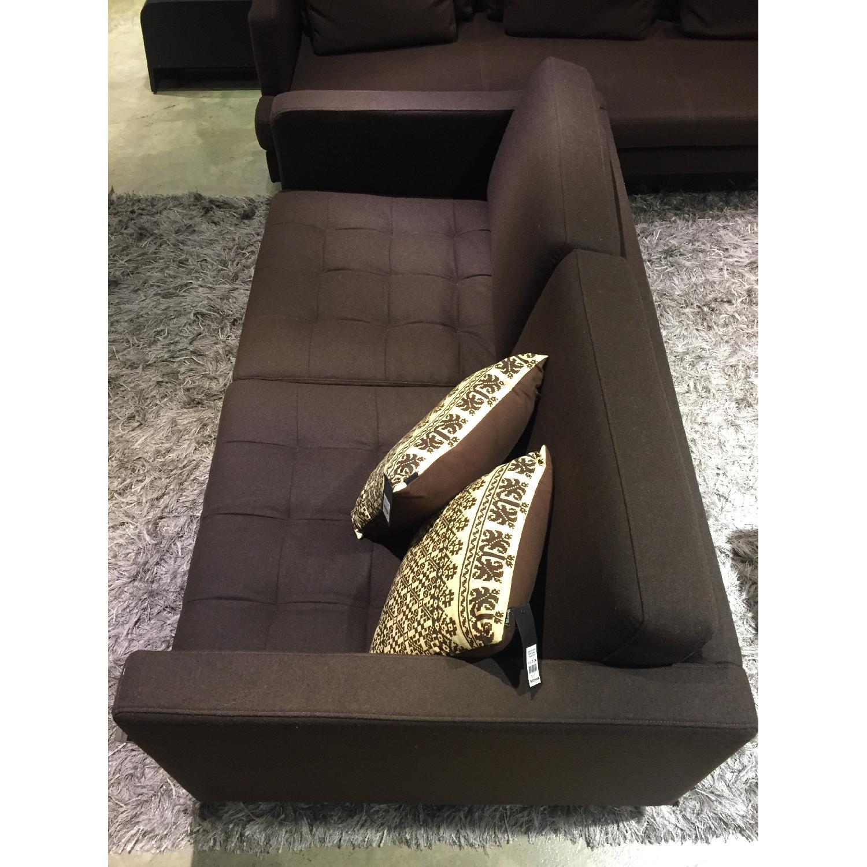 BoConcept Olympia Sofa in Chocolate w/ Felt/Brushed Steel Legs - image-6
