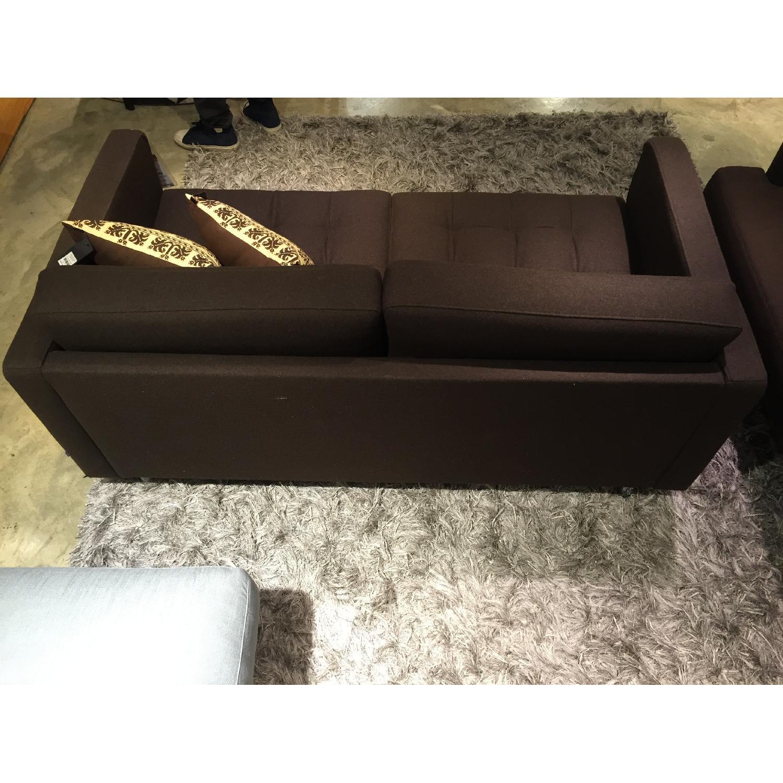 BoConcept Olympia Sofa in Chocolate w/ Felt/Brushed Steel Legs - image-7