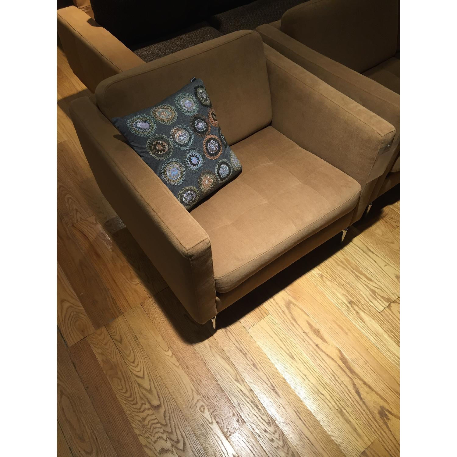 BoConcept Oasaka Armchair w/ Tufted Seat in Caramel Frisco Fabric - image-5