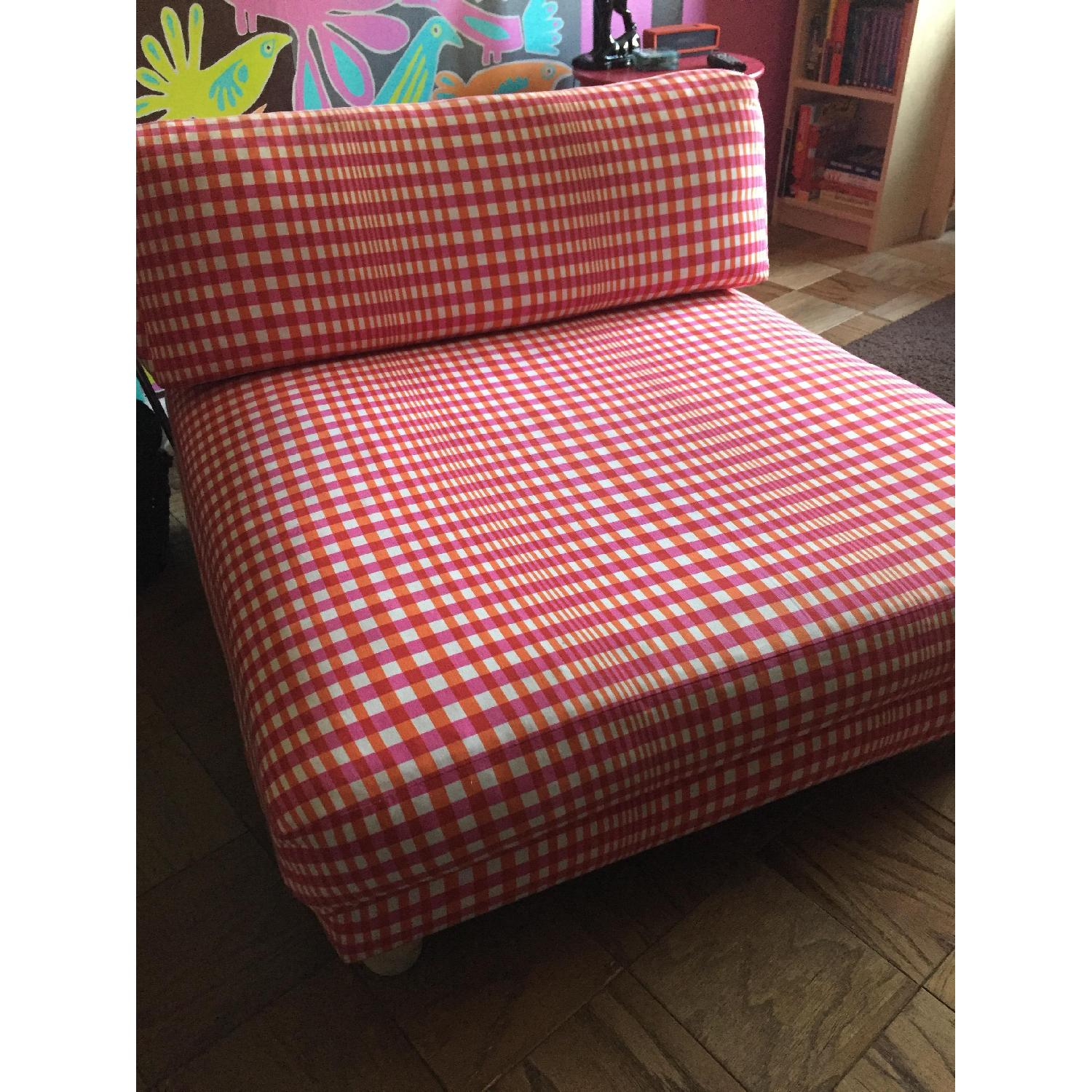 CB2 Piazza Gingham Chair - image-1