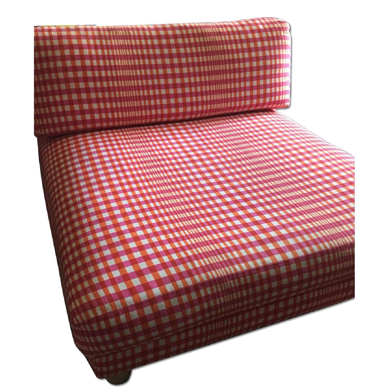 CB2 Piazza Gingham Chair