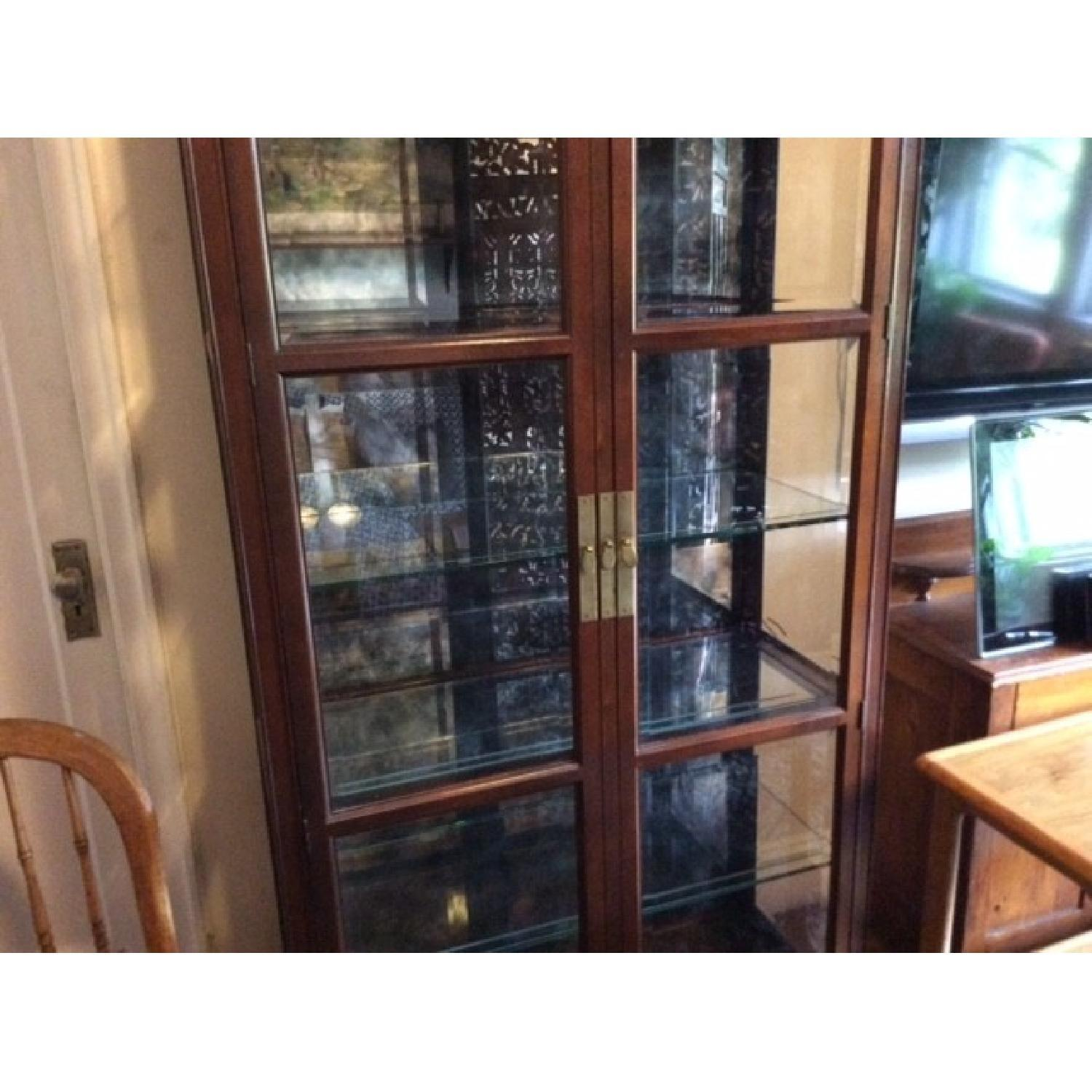 Lighted Glass & Wood Display Cabinet - image-2