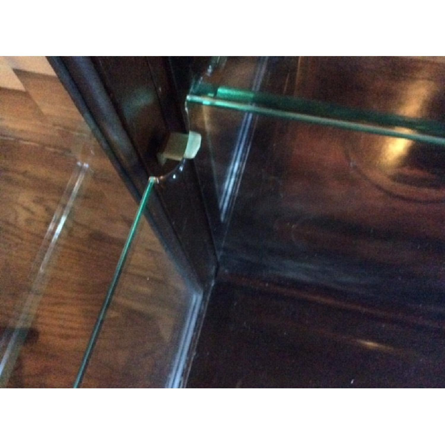Lighted Glass & Wood Display Cabinet - image-3