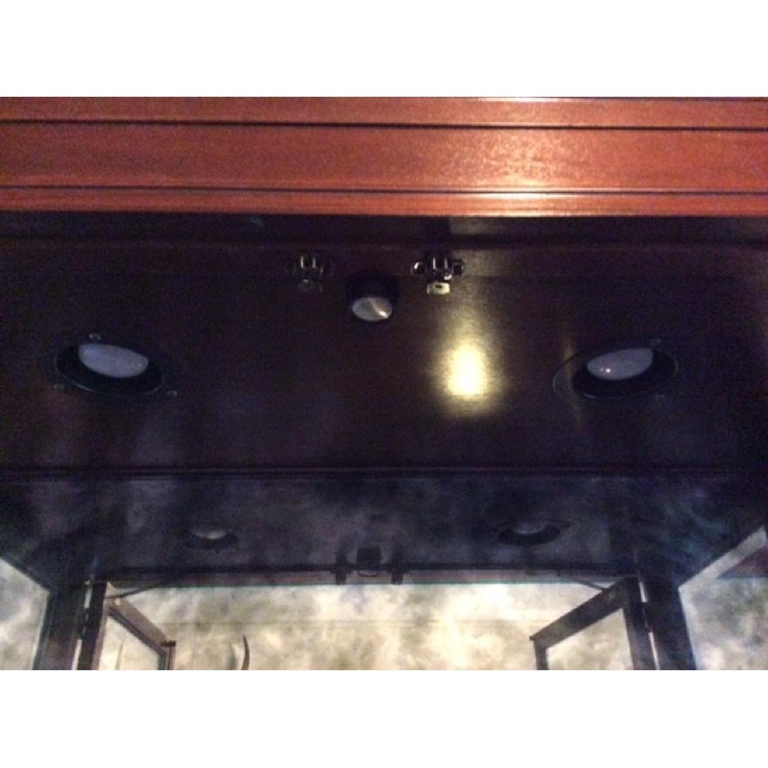 Lighted Glass & Wood Display Cabinet - image-4