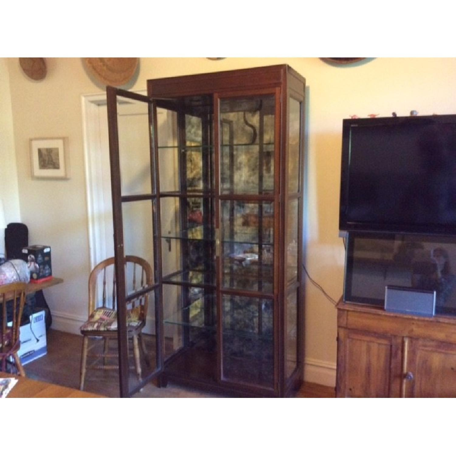 Lighted Glass & Wood Display Cabinet - image-6