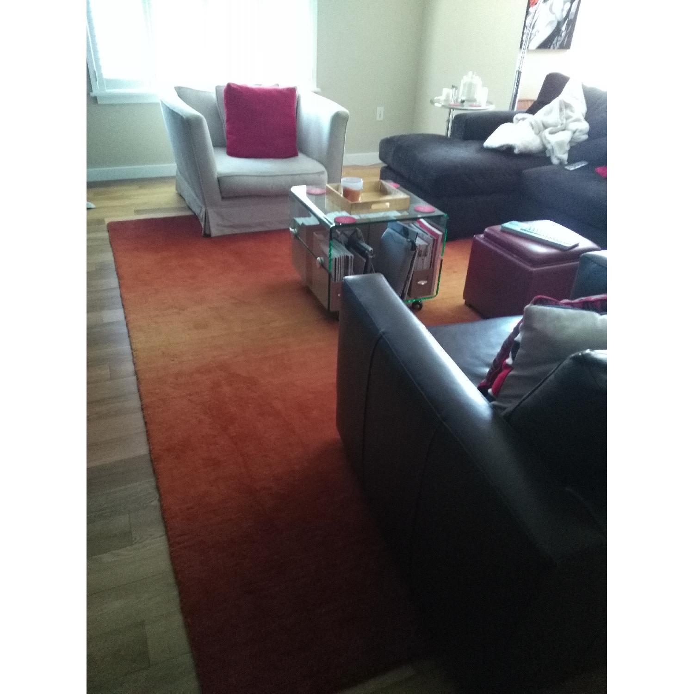 Lowes Orange Area Rug - image-3