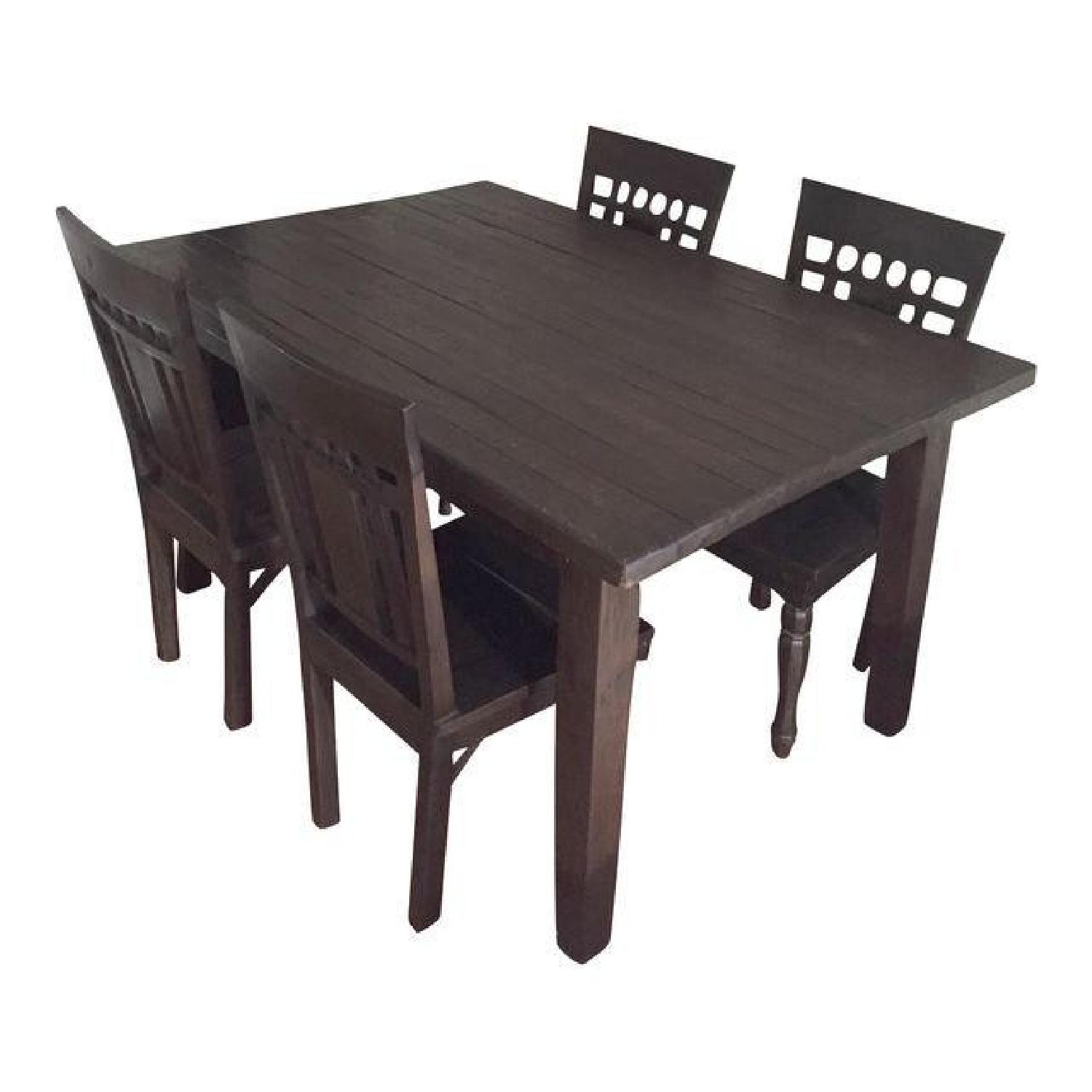 Far East Trading Co. 5 Piece Teak Dining Set - image-0
