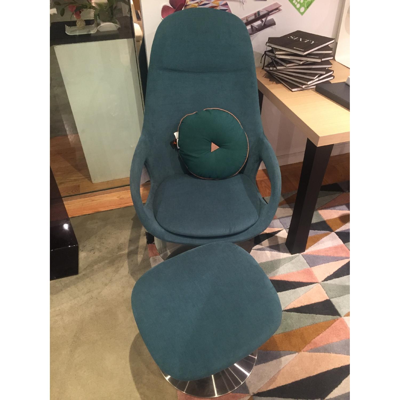 BoConcept Smartville Chair & Footstool - image-1