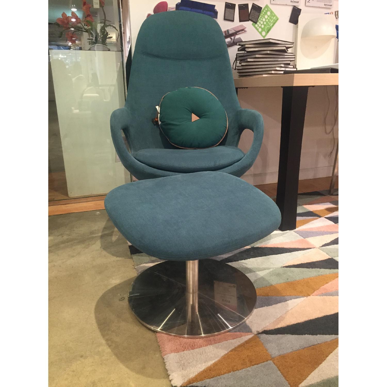 BoConcept Smartville Chair & Footstool - image-2