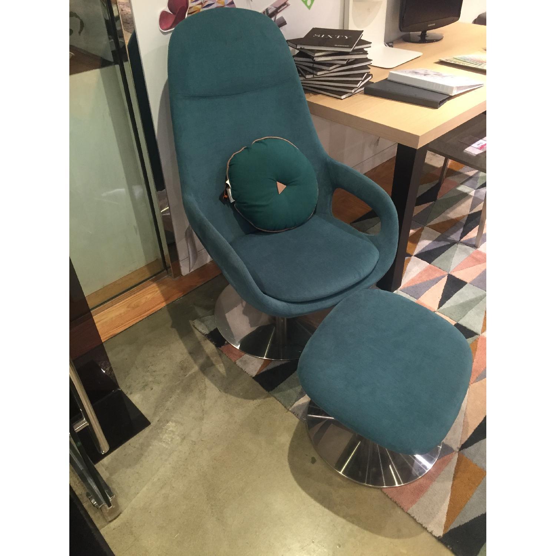 BoConcept Smartville Chair & Footstool - image-3
