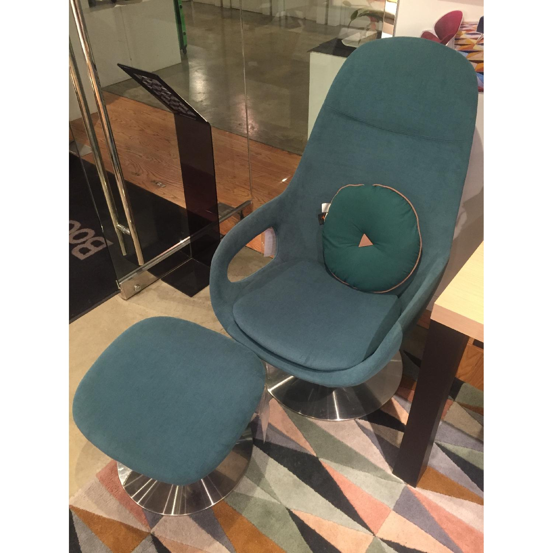 BoConcept Smartville Chair & Footstool - image-4