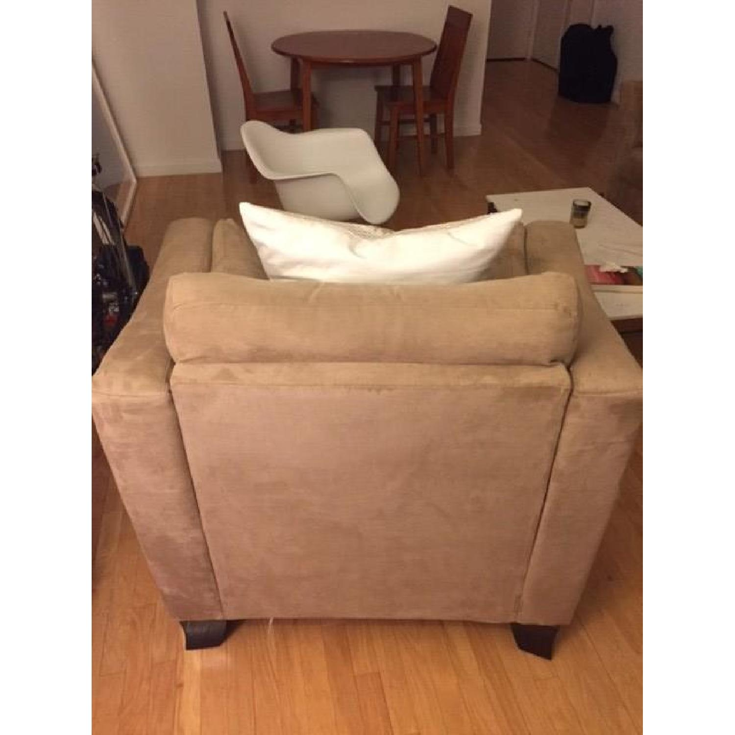 Neutral Suede Armchair - image-3