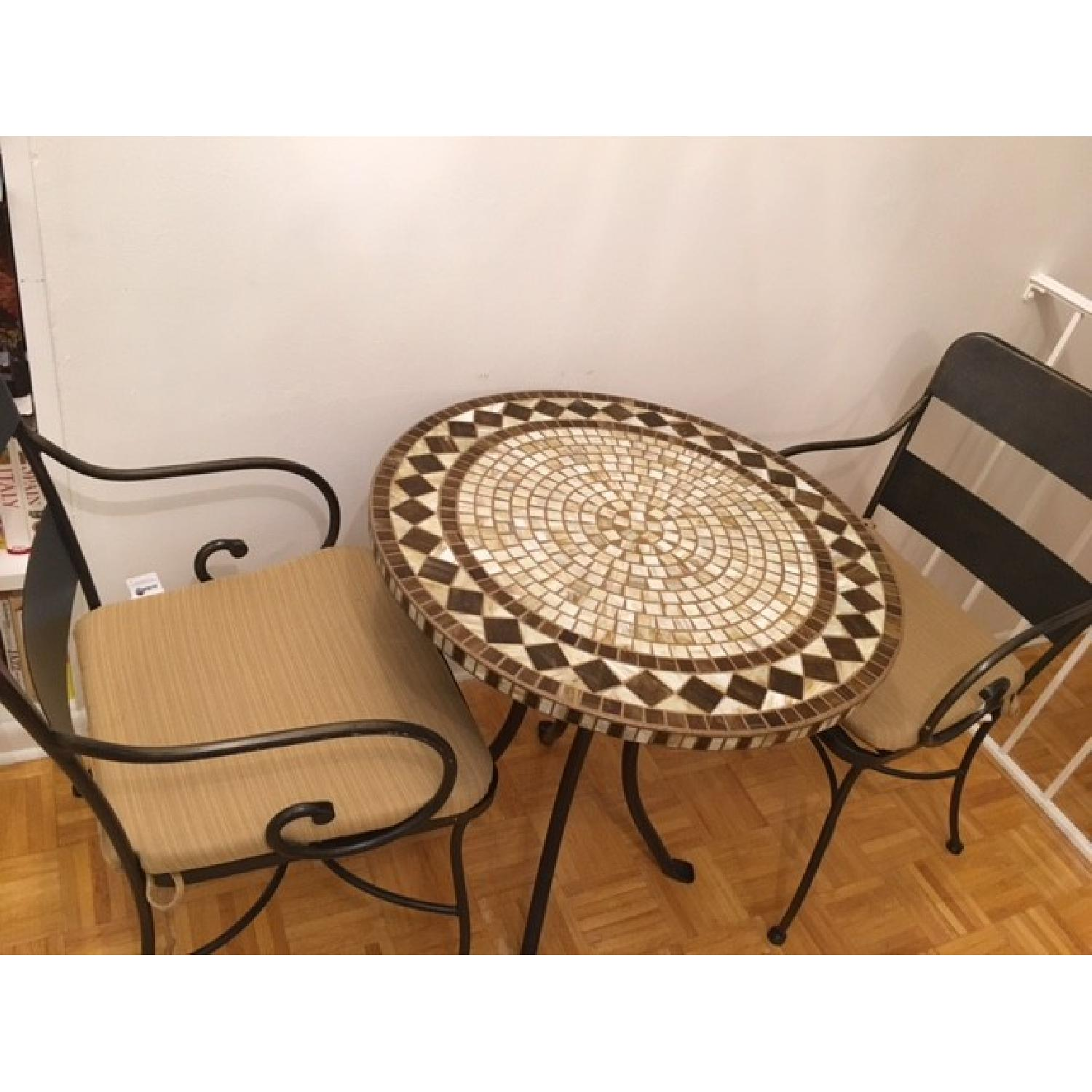 Mosaic Patio Table w/ 2 Chairs - image-1