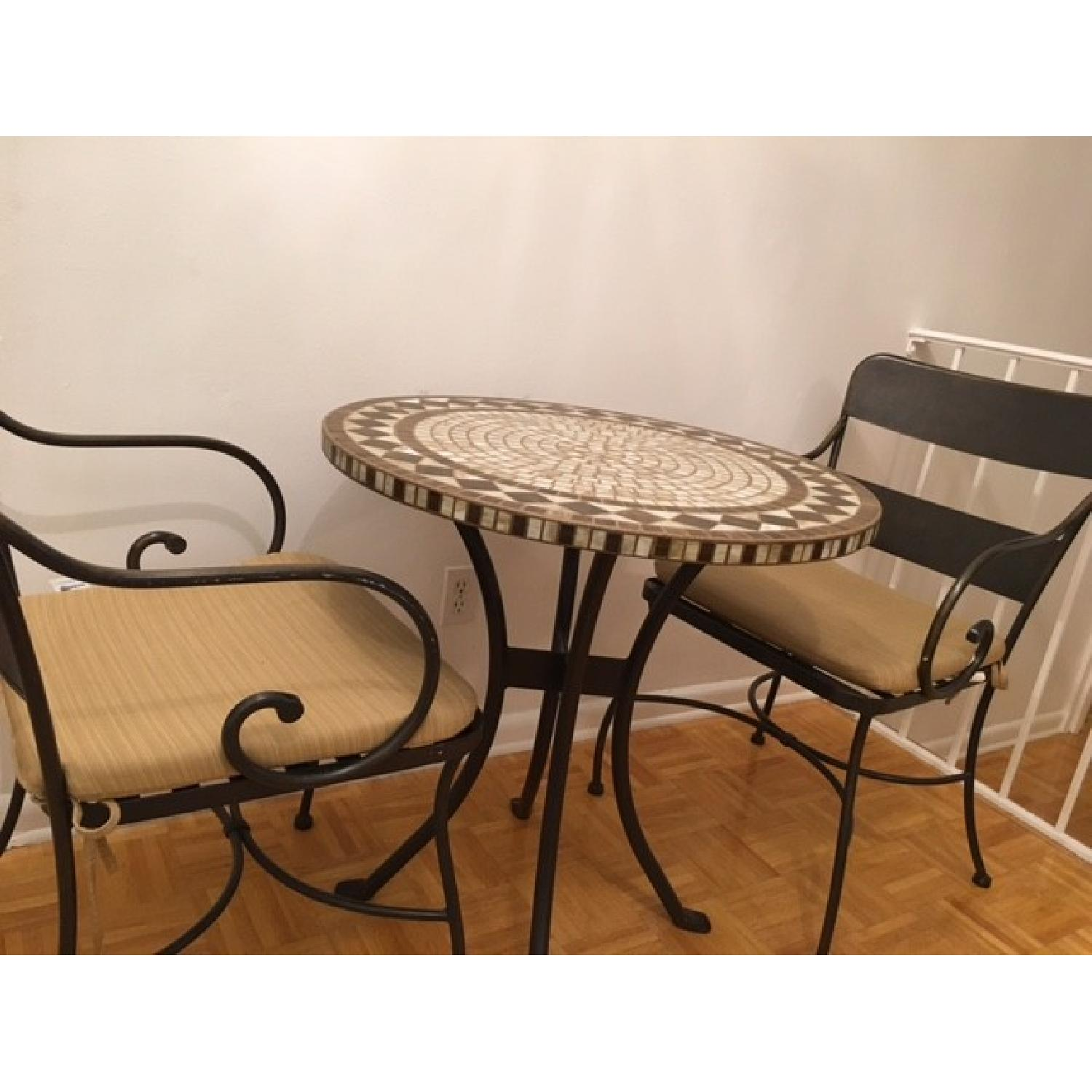 Mosaic Patio Table w/ 2 Chairs - image-2