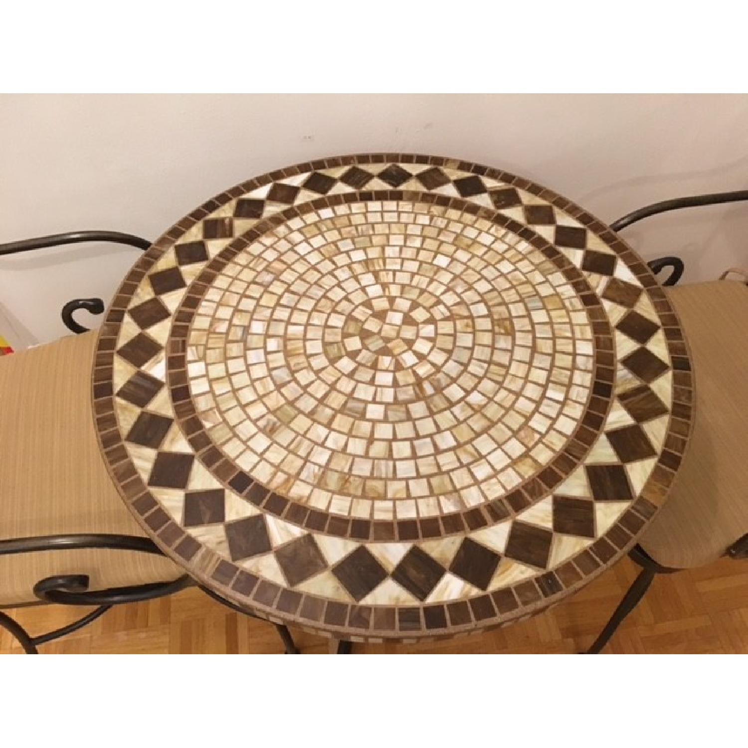 Mosaic Patio Table w/ 2 Chairs - image-3