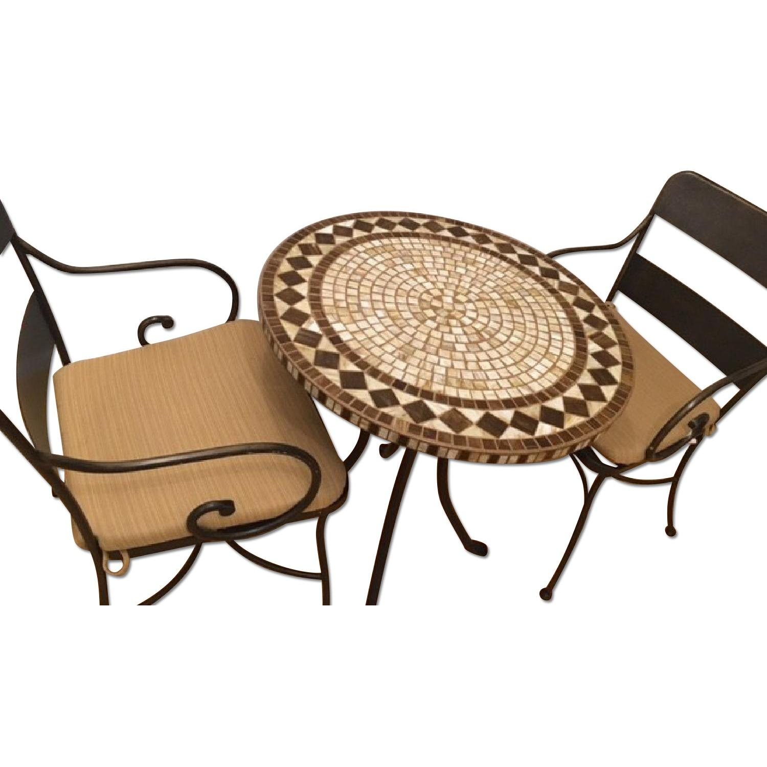 Mosaic Patio Table w/ 2 Chairs - image-0