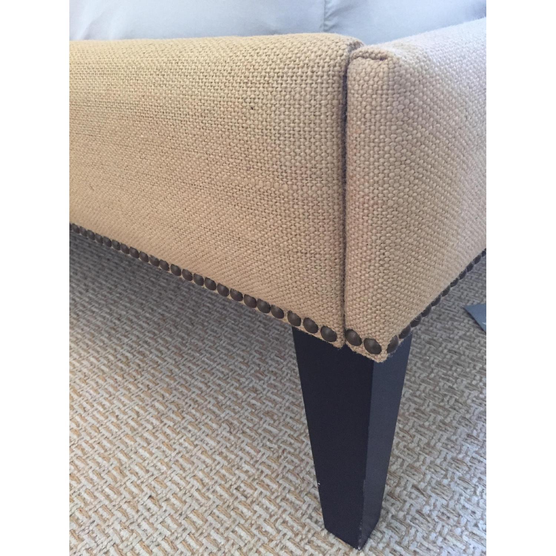 West Elm Nailhead Upholstered Full Bed Frame + Storage Bench - image-2