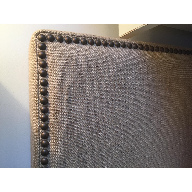 West Elm Nailhead Upholstered Full Bed Frame + Storage Bench - image-5
