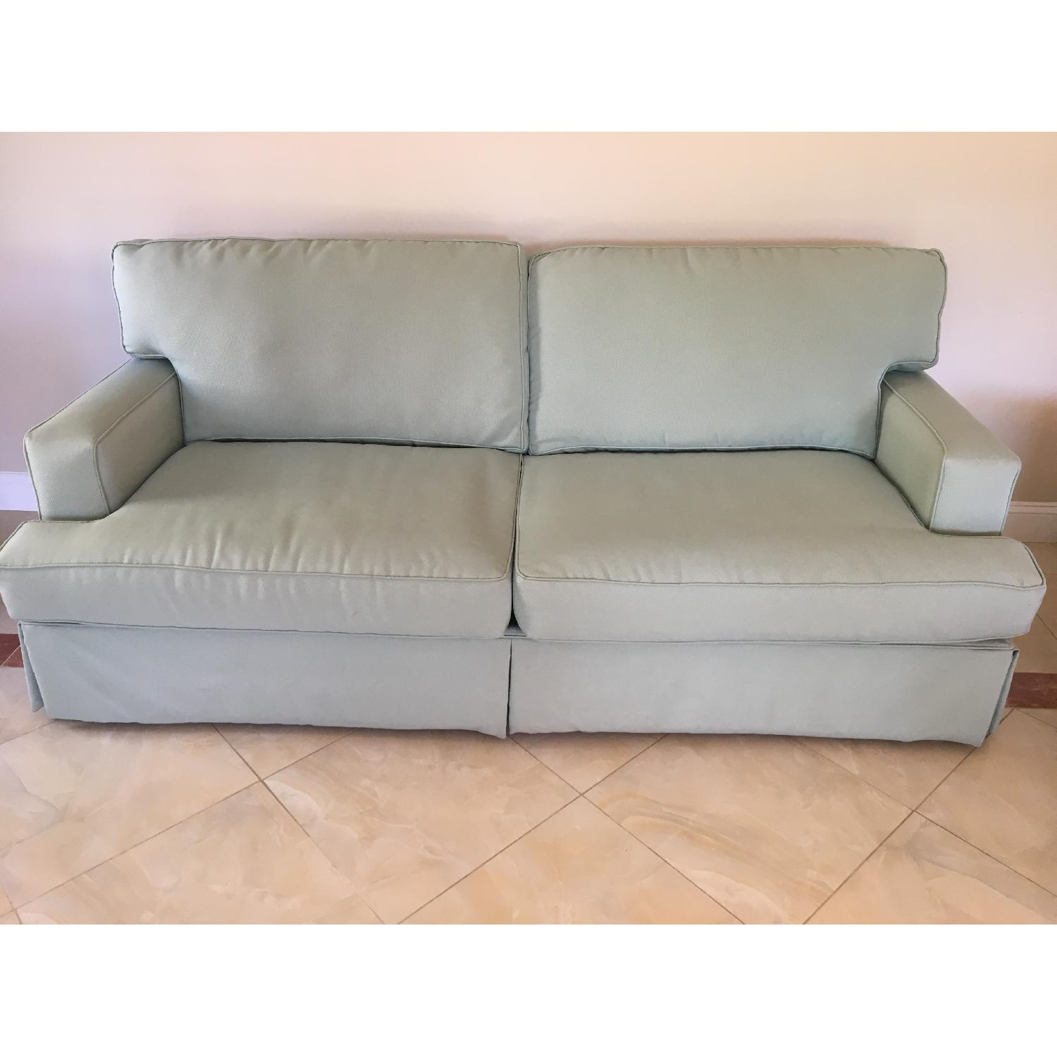 Raymour & Flanigan Sage Color Couch - image-1